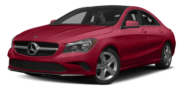 2017 Mercedes-Benz CLA Coupe red exterior model