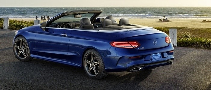 2017 Mercedes-Benz C-Class Cabriolet blue exterior model