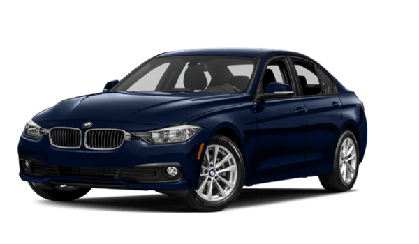 2017 BMW 320i Sedan white background