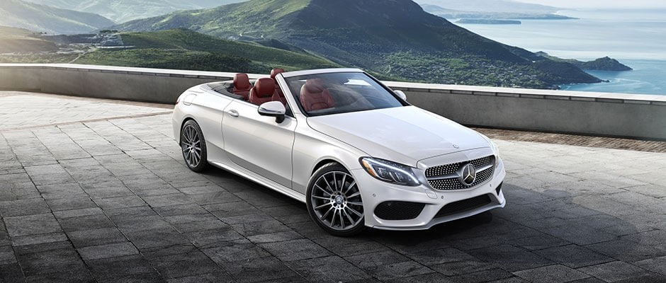 2018 Mercedes-Benz C-Class Cabriolet White Exterior Model