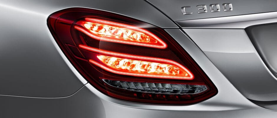 2018 Mercedes-Benz C-Class Sedan Headlights Up Close