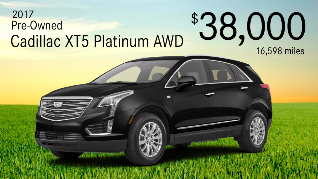 Pre-Owned 2017 Cadillac XT5 Platinum AWD