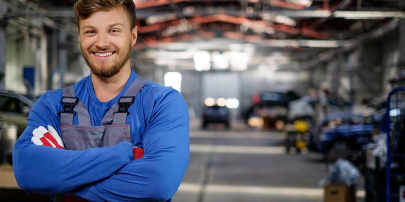 Mechanic in the service department