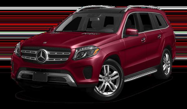 2018 Mercedes-Benz GLS red exterior