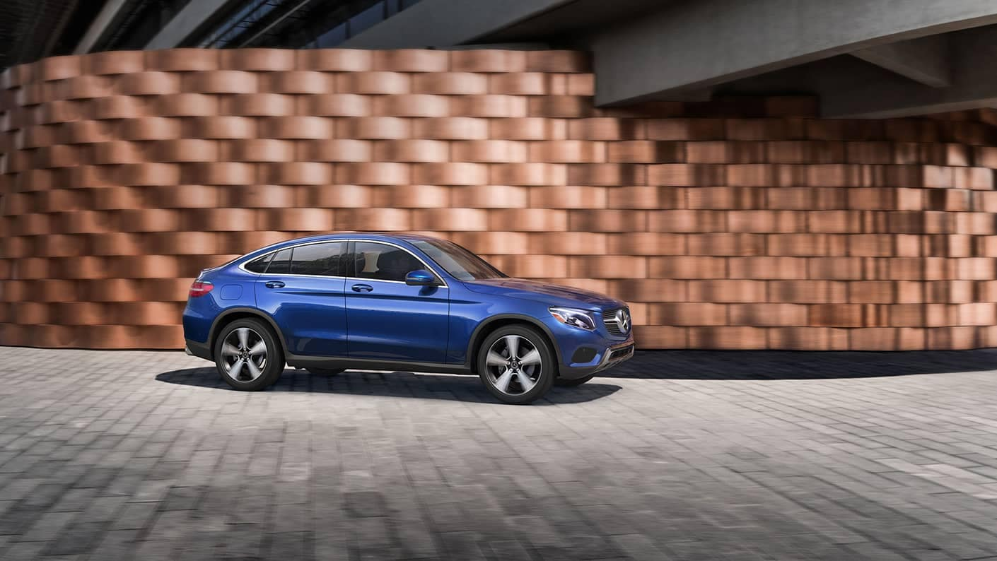 2019 Mercedes-Benz GLC Coupe blue exterior