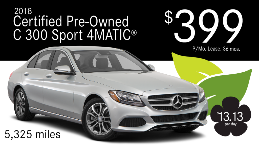 Certified Pre-Owned 2018 C 300 4MATIC®