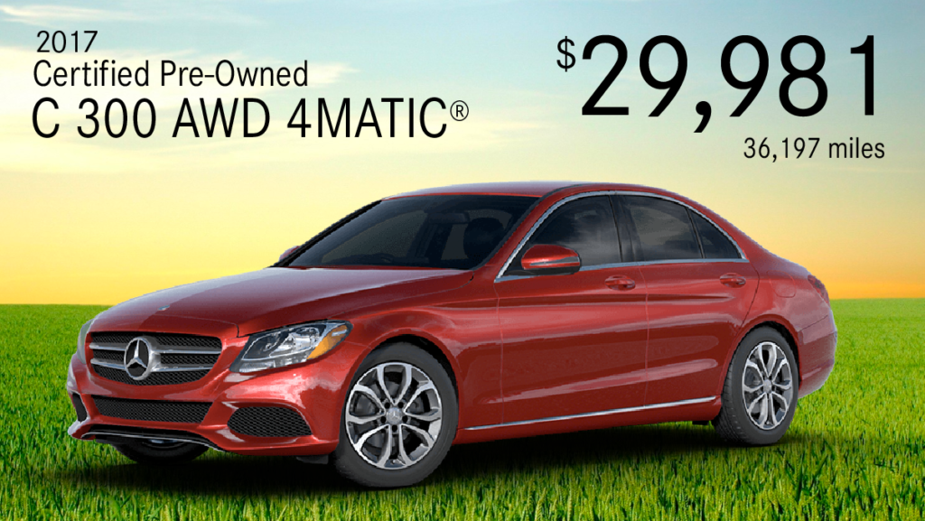 Certified Pre-Owned 2017 C 300 4MATIC®