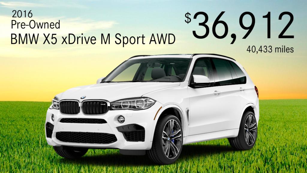Pre-Owned 2016 BMW X5 xDrive M SPORT AWD