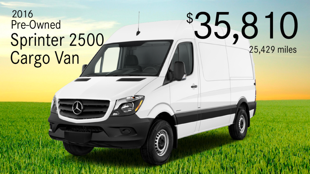 Pre-Owned 2016 Mercedes-Benz Sprinter 2500 Cargo Van