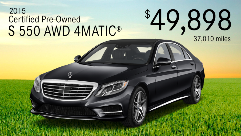 Certified Pre-Owned 2015 S 550 4MATIC®