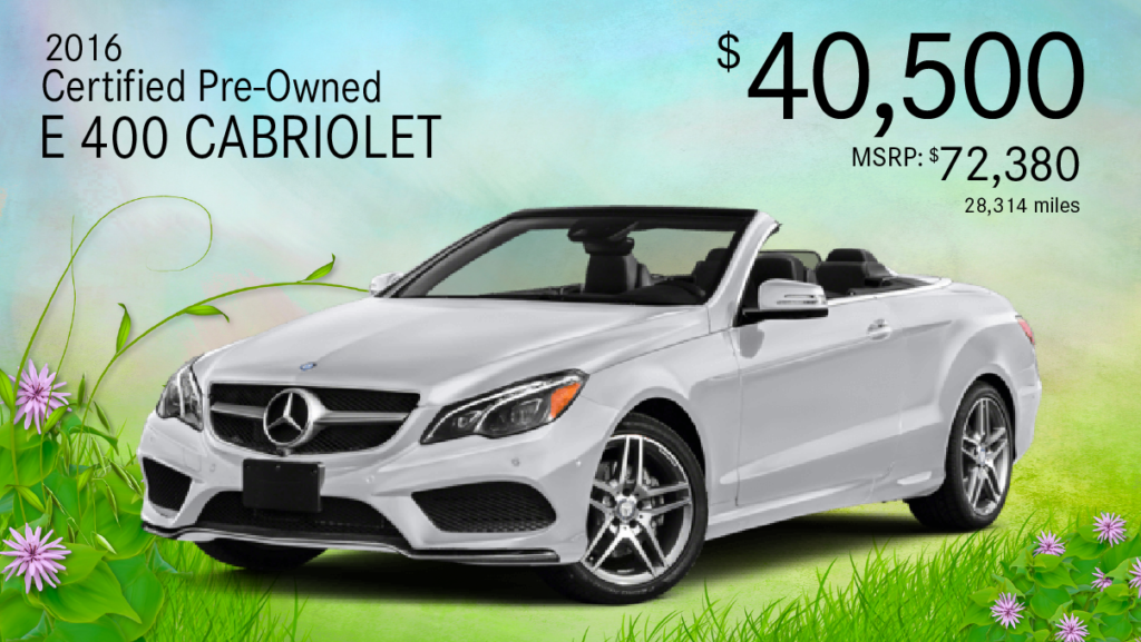 Certified Pre-Owned 2016 E 400 Cabriolet