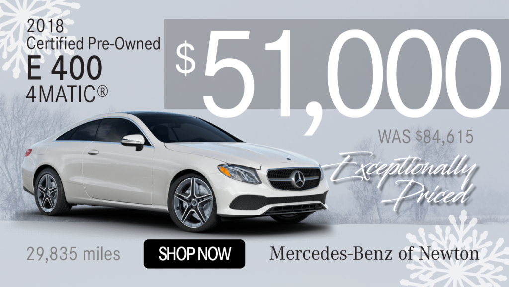 Certified Pre-Owned 2018 E 400 4MATIC®