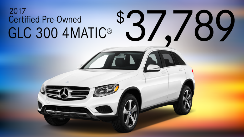 Certified Pre-Owned 2017 GLC 300 AMG Sport AWD 4MATIC®