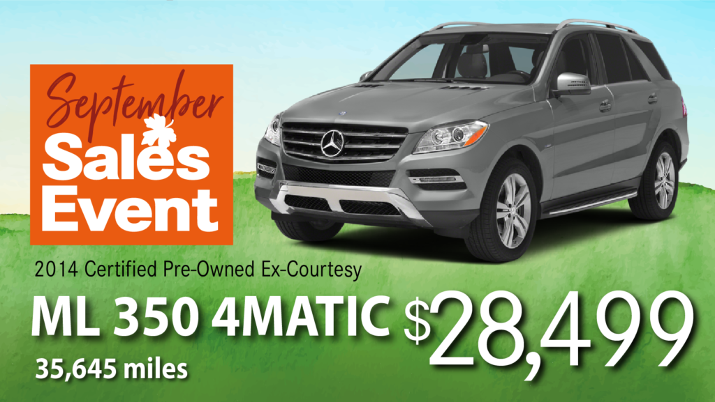 Certified Pre-Owned 2014 ML 350 AWD 4MATIC®