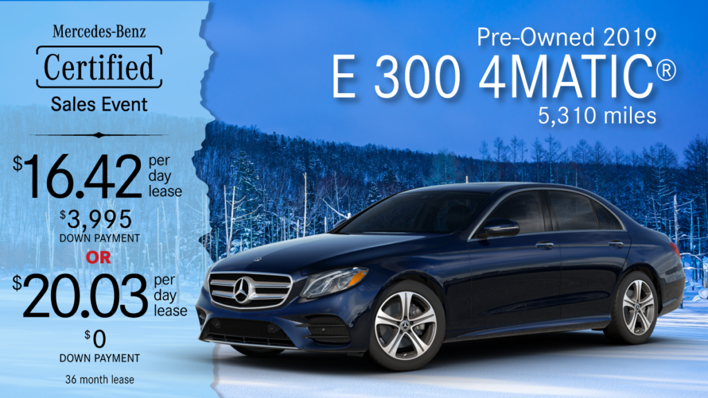2019 Ex-Courtesy E 300 4MATIC®