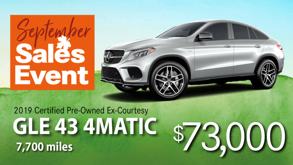 Certified Pre-Owned 2019 GLE 43 Coupe AMG AWD 4MATIC®