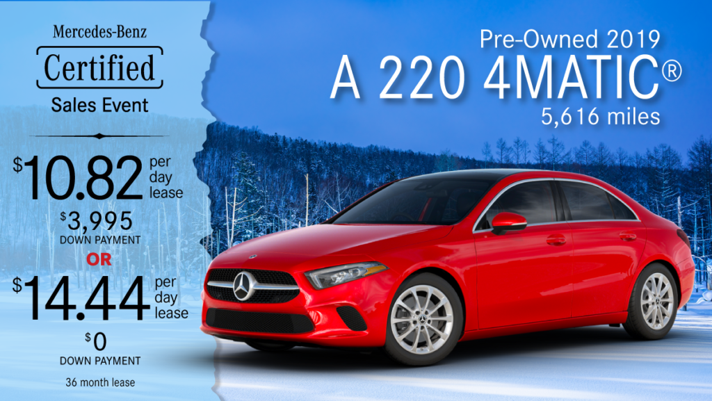 2019 Ex-Courtesy A 220 4MATIC®