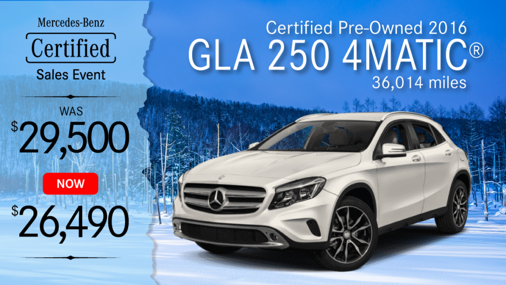 Certified Pre-Owned 2016 GLA 250 4MATIC®