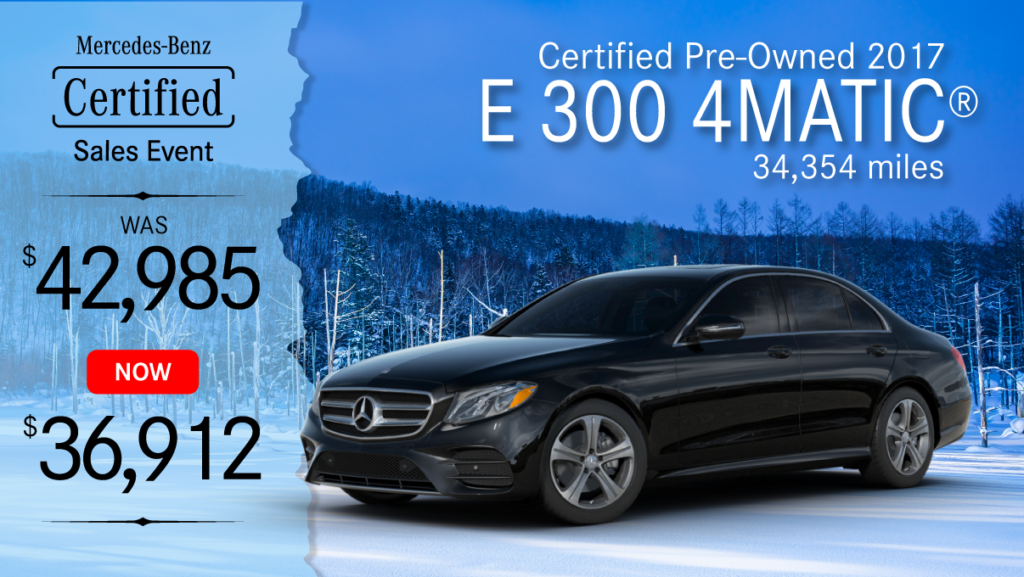 Certified Pre-Owned 2017 E 300 4MATIC®