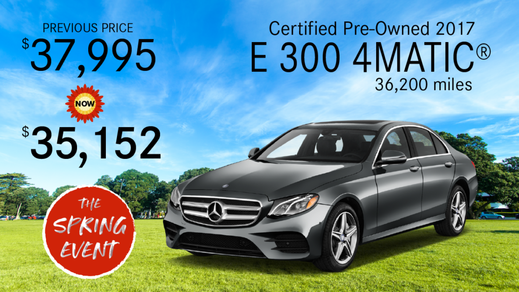 Certified Pre-Owned 2017 E 300 AWD 4MATIC®