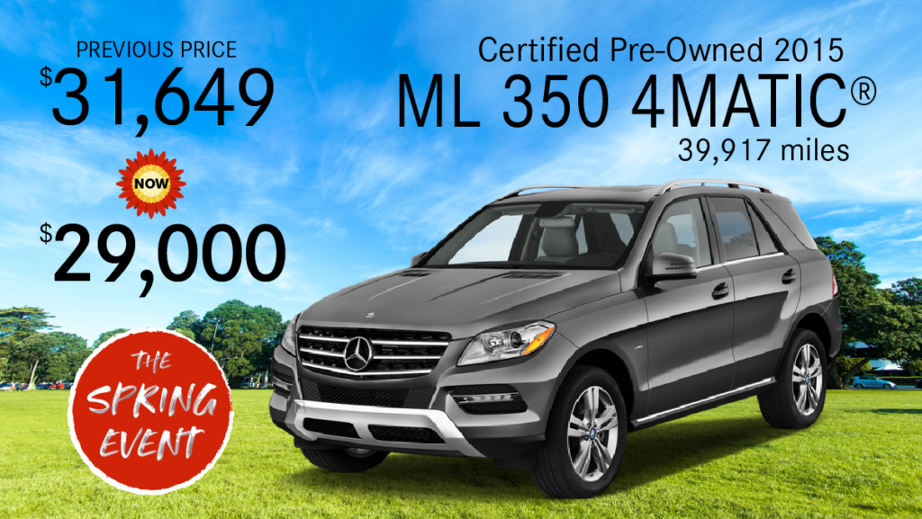 Certified Pre-Owned 2015 ML 350 4MATIC®