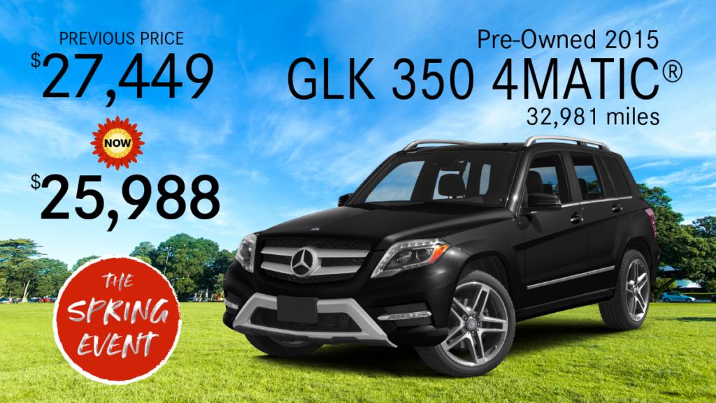 Pre-Owned 2015 GLK 350 AWD 4MATIC®