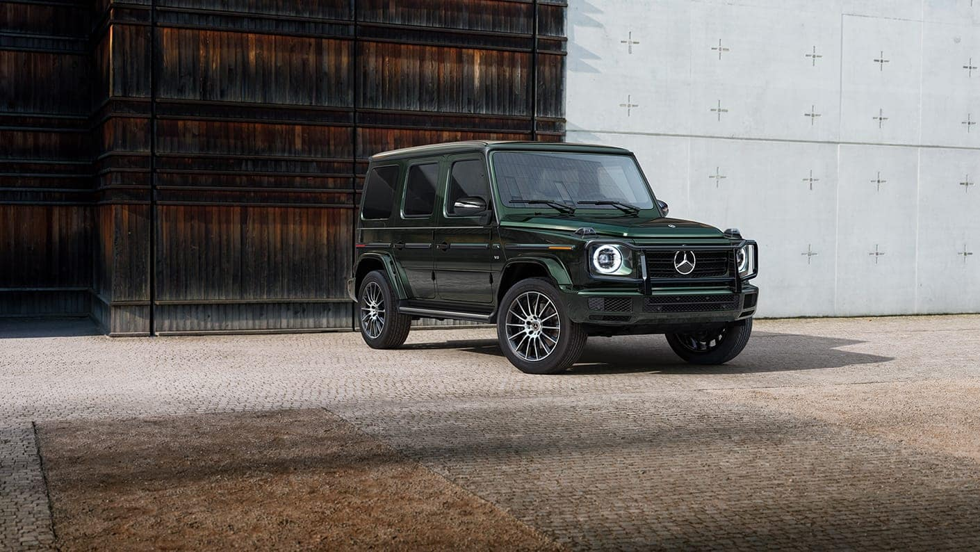 2020 G-Class green parked in driveway