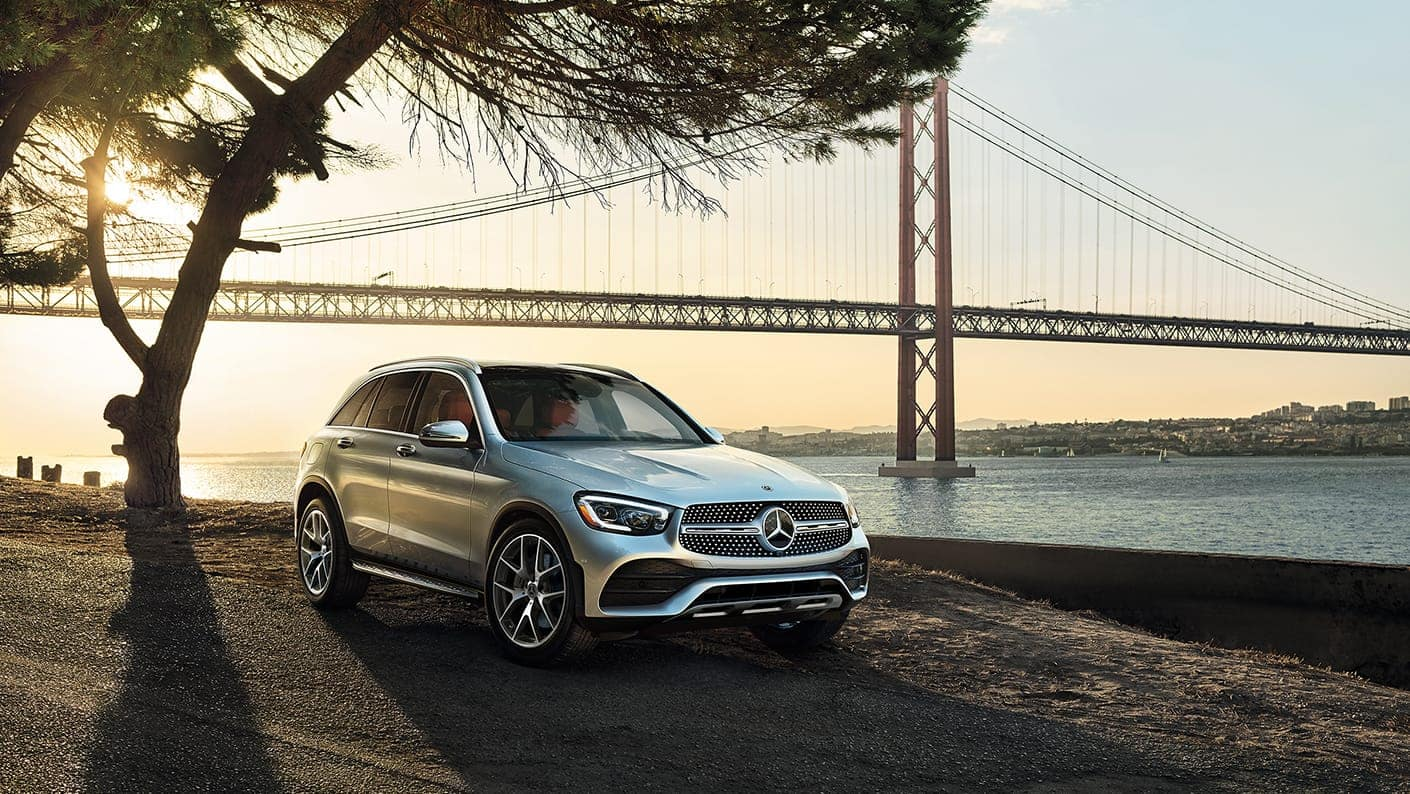 2020 GLC parked by golden gate bridge