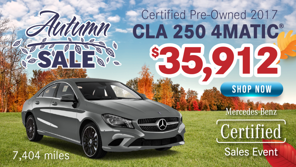Certified Pre-Owned 2017 CLA 250 4MATIC®