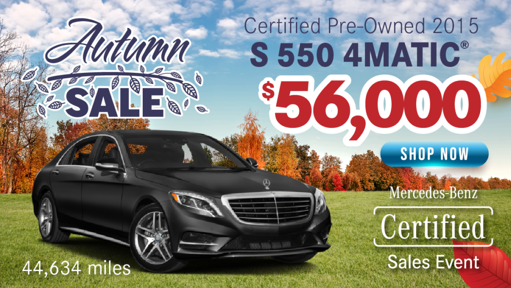 Certified Pre-Owned 2015 S 550 Sport 4MATIC®