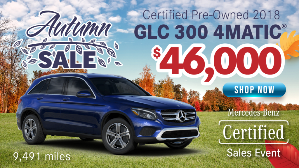 Certified Pre-Owned 2018 GLC 300 AWD 4MATIC®