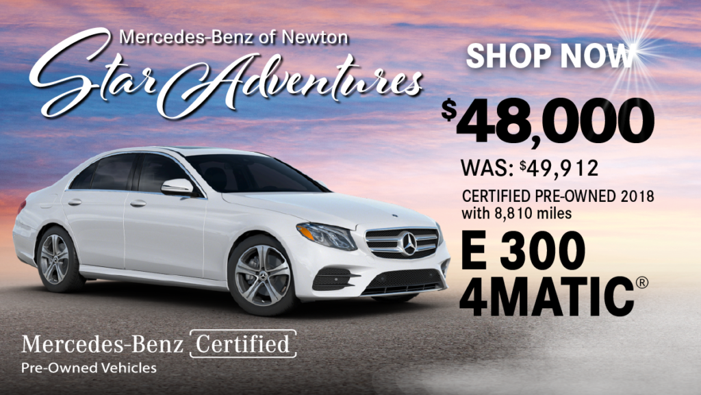 Certified Pre-Owned 2018 E 300 4MATIC®