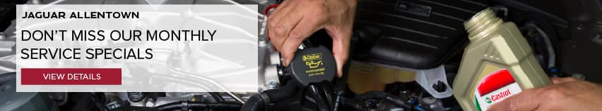 DON'T MISS OUR MONTHLY SERVICE SPECIALS, VIEW DETAILS. IMAGE FEATURES SERVICE TECHNICIAN PERFORMING AN OIL CHANGE.