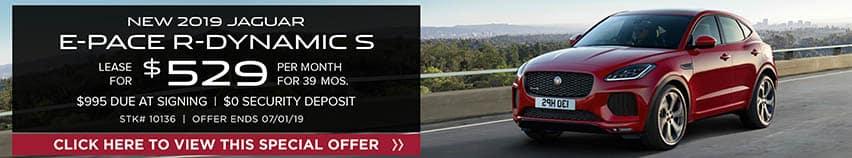 2019 Jaguar E-PACE R-Dynamic S Lease for $529