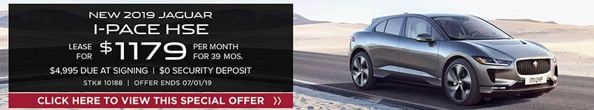 2019 Jaguar I-PACE HSE Lease for $1,179