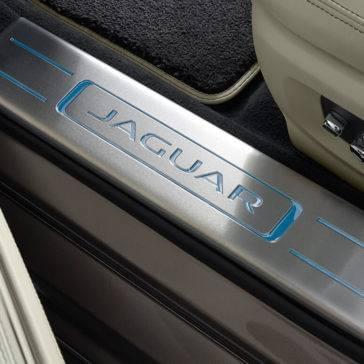 2017 Jaguar XJ Optional Lighted Stainless Steel Tread Plates