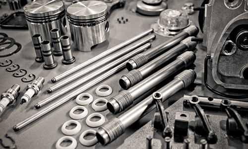 Pile of car auto parts
