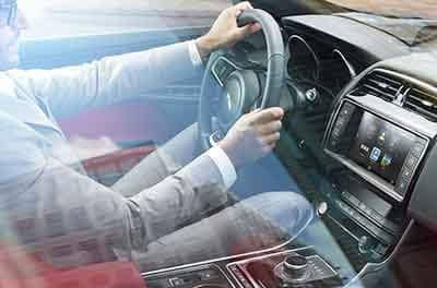 Jaguar XE Interior technology man driving