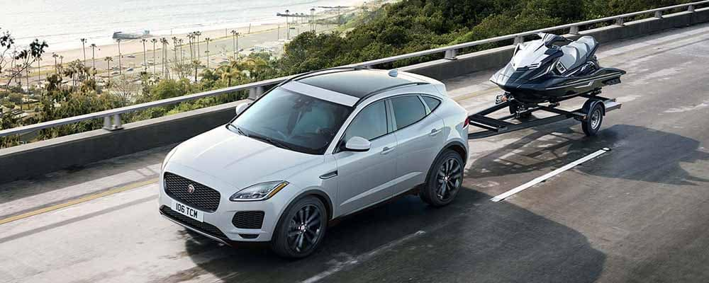 2018 Jaguar E-PACE Towing a Trailer