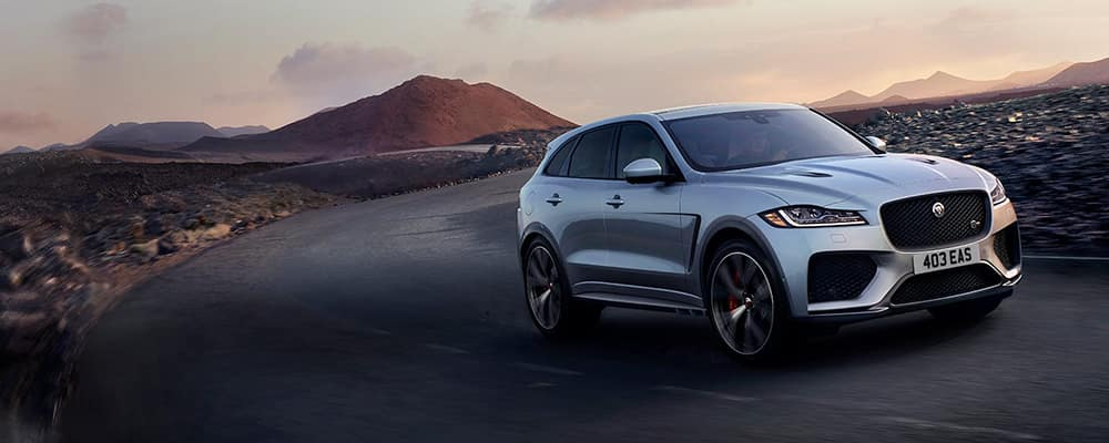 2020 Jaguar F-PACE  driving in desert