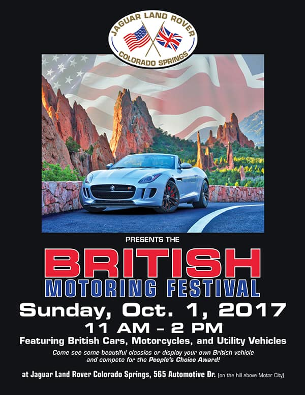 2017 British Motoring Festival at Jaguar Land Rover Colorado Springs