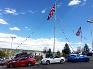 Jaguar F-Type Coupes and Convertible at Jaguar Colorado Springs