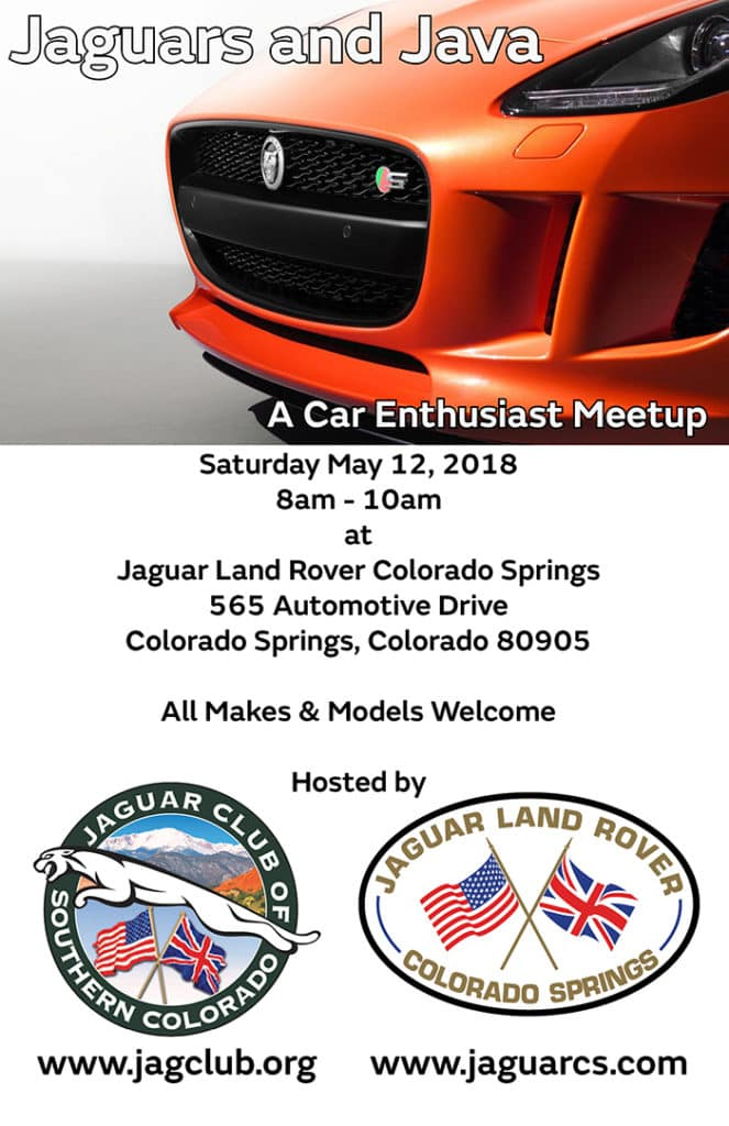 Jags and Java May 12 in Colorado Springs