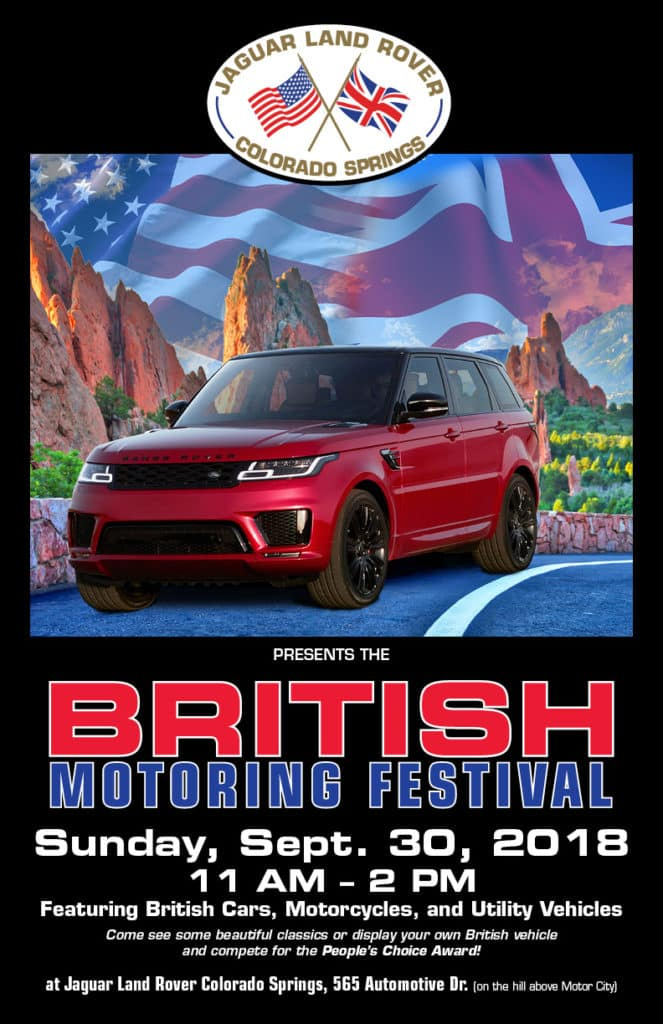 2018 British Motoring Festival at Jaguar Colorado Springs