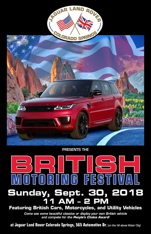 British Motoring Festival At Jaguar Colorado Springs - Colorado car show calendar