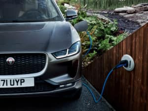 Jaguar i-pace plug in charging station electric vehicle car in colorado springs