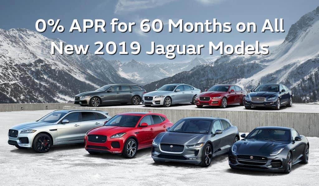 0.0% APR for 60 Months On All New 2019 Jaguar Models