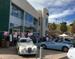 Classic Jaguars at the British Motoring Festival at jaguar colorado springs