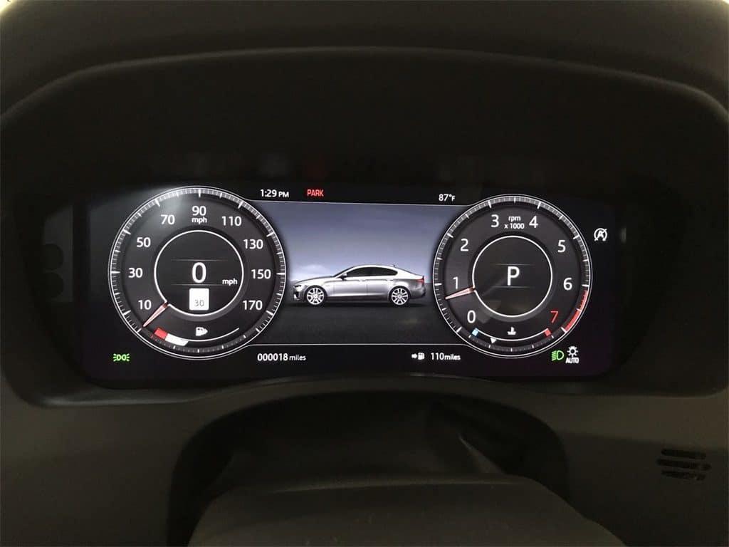 2020 Jaguar XE user-friendly gauges