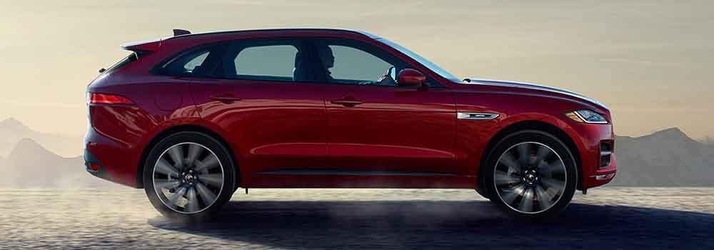 Jaguar F-PACE driving